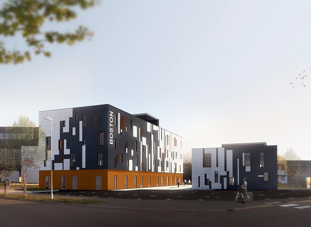 Immeuble de bureaux à la Roche sur Yon (85) : une réalisation de Muriel Bernard, architecte DPLG. 2016