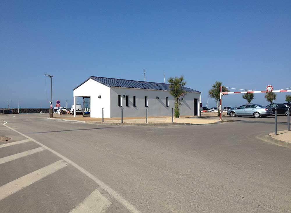 Extension de la capitainerie de Jard sur Mer (85) - : une réalisation de Muriel Bernard, architecte DPLG. 2015