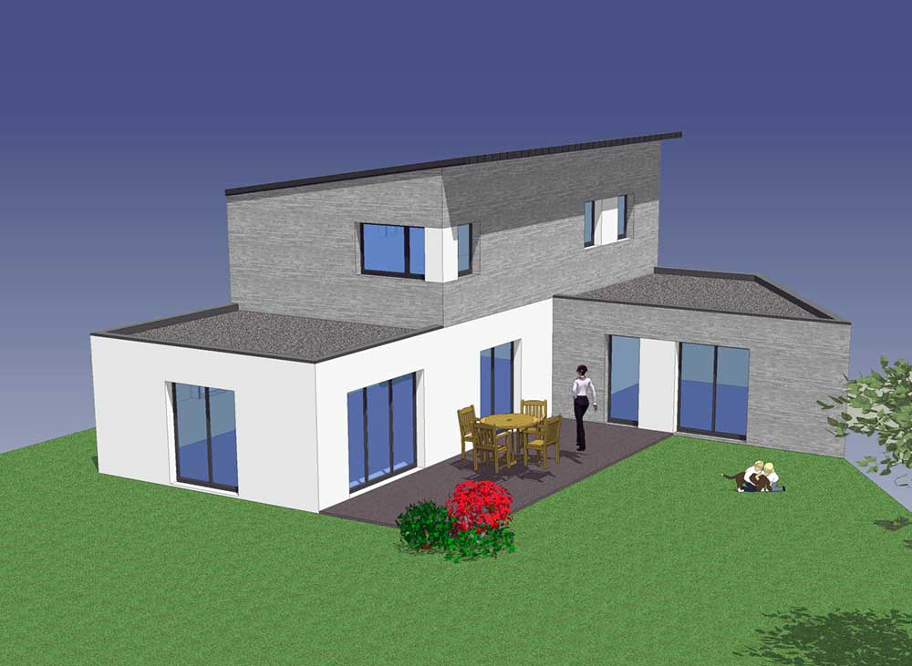 conception d'une maison unifamiliale à à Saint Julien des Landes (85) : une réalisation de Muriel Bernard, architecte DPLG. 2016