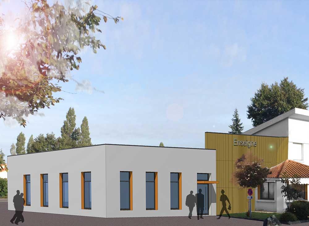 extension d'hôtel aux Herbiers (85) : une réalisation de Muriel Bernard, architecte DPLG. 2016