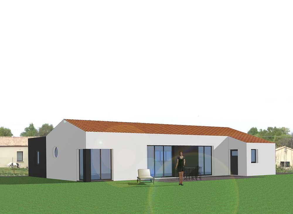 conception d'une maison unifamiliale à Martinet (85) : une réalisation de Muriel Bernard, architecte DPLG. 2016